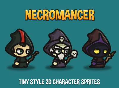 Necromancer Tiny Style 2D Characters