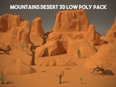 Free Desert Mountains 3D Low Poly Pack