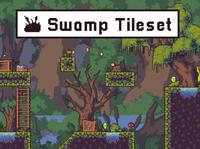 Free Swamp 2D Tileset Pixel Art