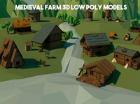 Medieval Farm 3D Low Poly Pack