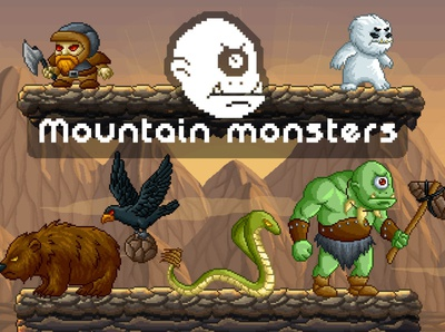 Mountain Monsters Pixel Art