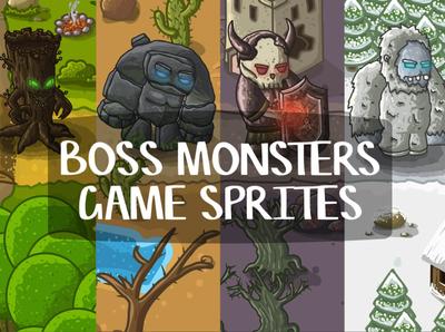Boss Monster 2D Game Sprites