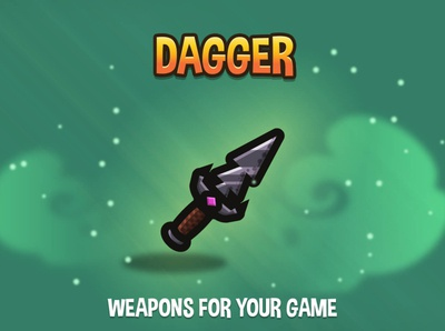 Dagger 2D Weapons dagger weapon gamedev game assets game asset game 2d