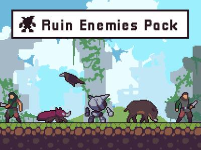 Pixel Art Ruin Enemy Sprite Sheets gamedev indie game rpg fantasy sprite platformer pixel art pixelart indie game design game assets fantasy game enemies character 2d