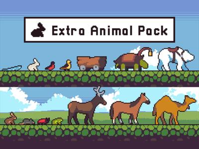 Pixel Art Animal Sprite Sheets pixel art pixelart 2d game design sprite platformer animal character game assets gamedev