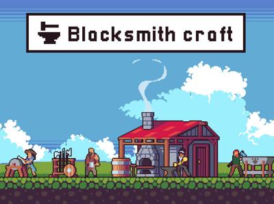 Blacksmith Craft Game Asset Pack game design pixel art indie game sprite platformer character game assets 2d gamedev