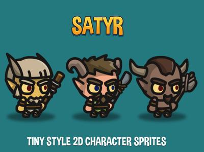 Free Satyr 2D Sprites sprites fantasy sprite rpg platformer indie game gamedev game assets fantasy game character 2d