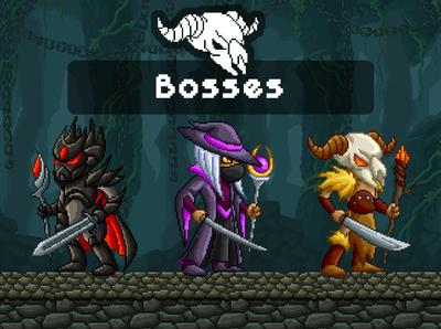 Bosses Pixel Art 2D Sprites sprite rpg platformer pixel art pixelart monsters indie game gamedev game assets fantasy enemies character 2d