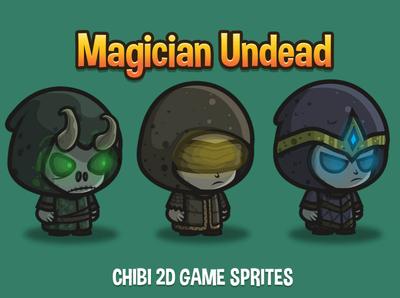 Magician Undead Chibi Sprites