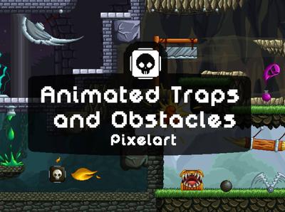 Animated Traps Pixel Art Pack trap sprite platformer pixel art pixelart indie game gamedev game design game assets game 2d