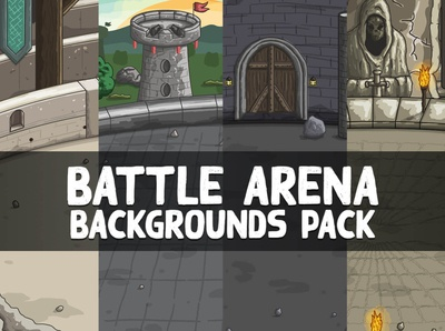 Battle Arena Game Backgrounds indie game gamedev game design game assets game fantasy castle backgrounds 2d