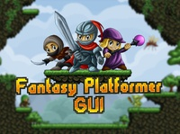 Fantasy Platformer Game Interface design indie game gui ui interface design fantasy game assets gamedev 2d