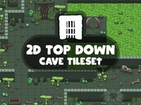 Top Down Cave Game Tileset game design indie game fantasy tileset rpg game assets 2d gamedev