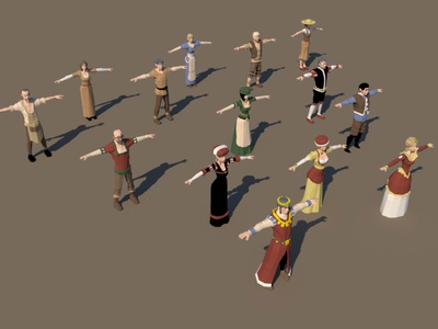 Free Medieval 3D People Low Poly Pack models lowpolyart low-poly low poly lowpoly low people medieval 3d art 3d gamedev