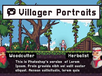 Villager Portrait Pixel Art Assets pixelart indiedev gamedev gameassets craftpix