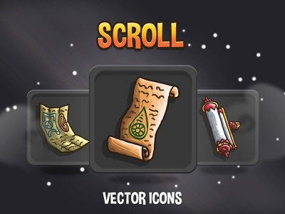48 Scroll RPG Icons indie game 2d game assets indiedev icons gamedev gameassets craftpix