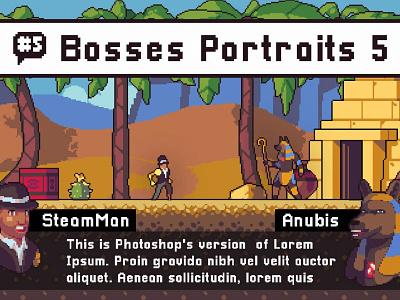 Monster Portraits Pixel Art pixelart indiedev gamedev gameassets craftpix