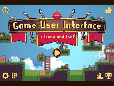 Game User Interface Pixel Art pixel art game interface interface indie game game assets 2d gamedev