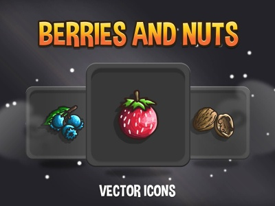 Berries And Nuts Icon Pack indiedev icons gamedev gameassets craftpix