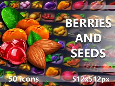 Berry and Seed Game Icons indiedev