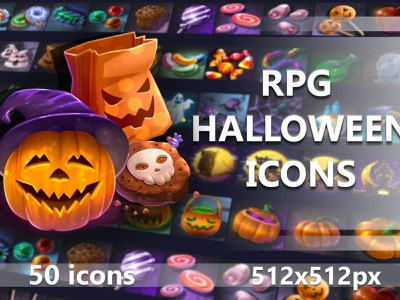 Free Halloween Icons jrpg objects candies items object item 2 d assests icone candy mmorpg rpg assets halloween icons icon asset 2d