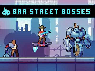 Street Bosses Pixel Art enimy enimies cyber punk sprites pixelated pixelart pixel enemy enemie cyberpunk cyber bosses boss assets asset 2d