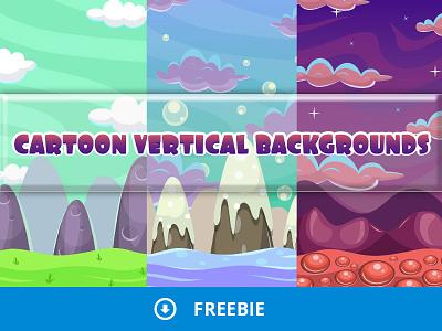 Cartoon Vertical Game Backgrounds match3 gaming gamedev freebie free background