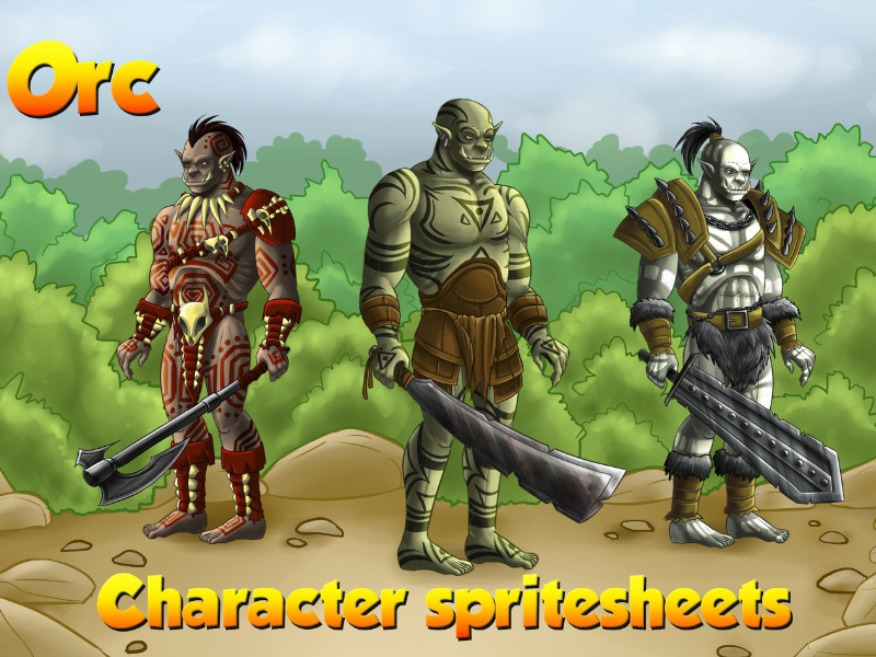 2d Game Orc Character Sprites by 2D Game Assets on Dribbble