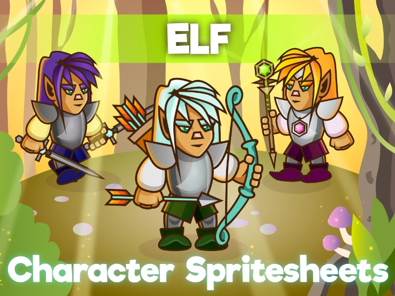 2d Game Elf Character Sprite