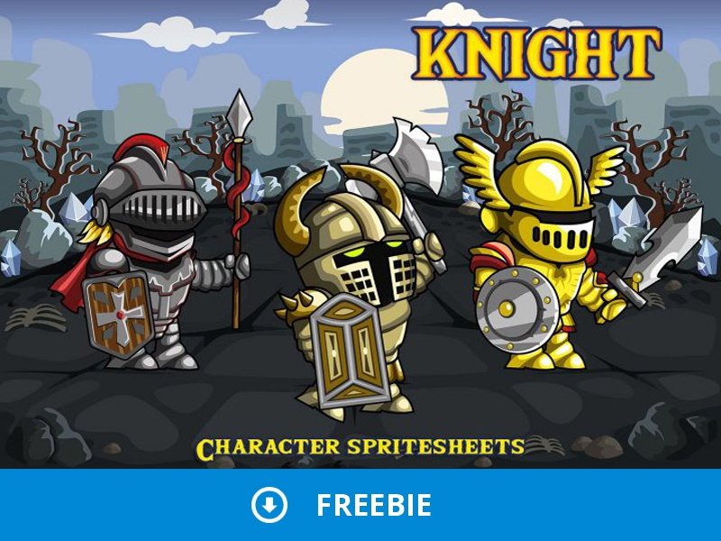 Free 2D Fantasy Knight Sprite by 2D Game Assets on Dribbble