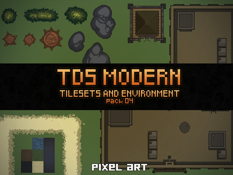 Pixel Art : Tilesets and Environment by 2D Game Assets on