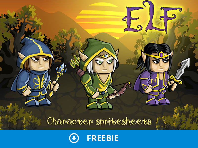 Free 2D Fantasy Elf Sprite by 2D Game Assets on Dribbble