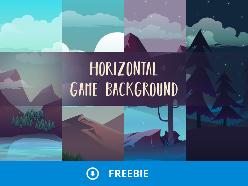 Free Horizontal Game Backgrounds by 2D Game Assets on Dribbble