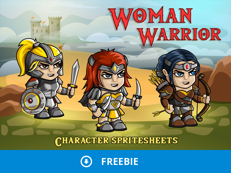 Free 2D Fantasy Woman Warrior Sprite by 2D Game Assets on Dribbble