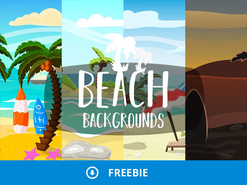 Free Beach 2D Backgrounds by 2D Game Assets on Dribbble