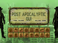 Post-Apocalyptic Game Interface