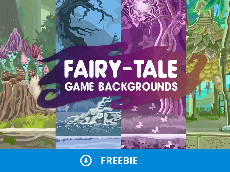 Free Fairy-Tale Backgrounds by 2D Game Assets on Dribbble