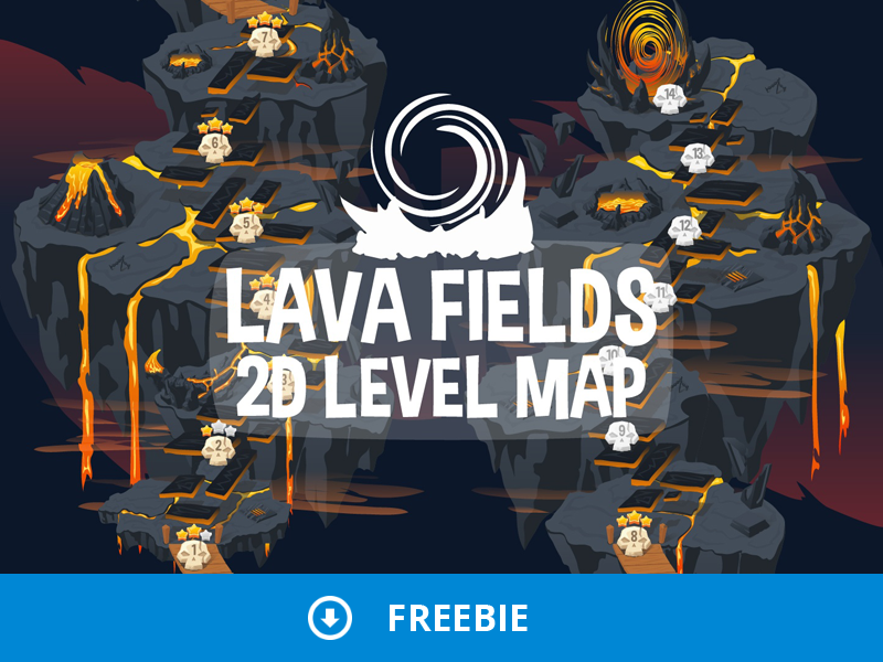 Free Level Map 2D Backgrounds by 2D Game Assets on Dribbble