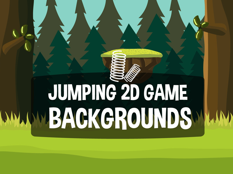 Jumping Game Backgrounds by 2D Game Assets on Dribbble