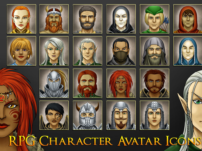 Rpg Game Avatars By 2d Game Assets On Dribbble