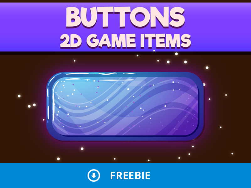 Free Buttons 2D Game Items by 2D Game Assets on Dribbble