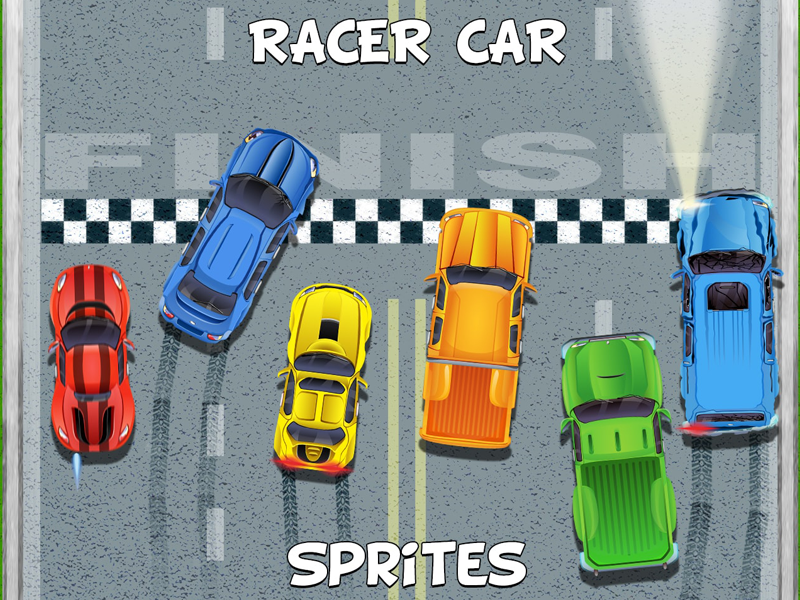 Top Down Racer Car 2D Sprites by 2D Game Assets on Dribbble