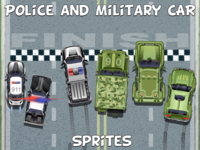 Top Down Police and Military 2D Sprites