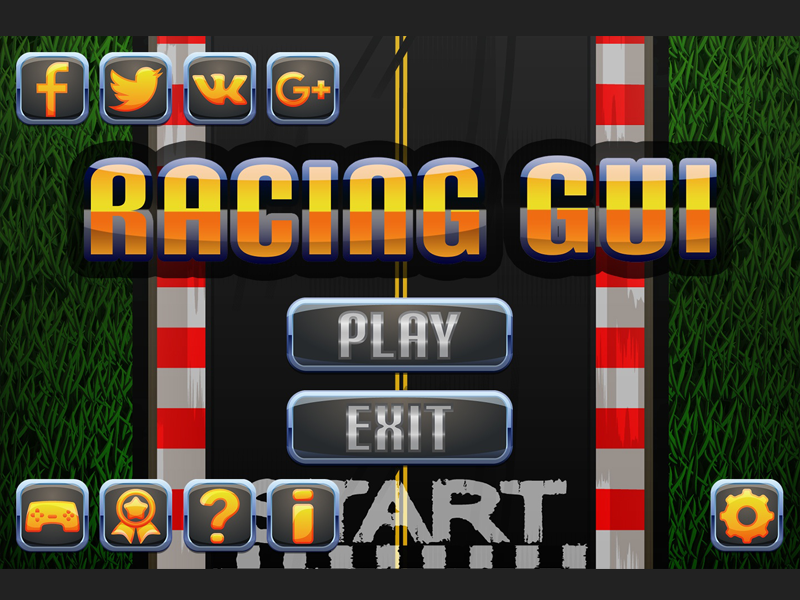 Racing Game UI by 2D Game Assets on Dribbble