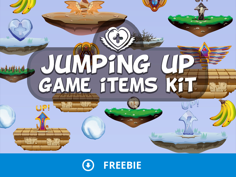 Free Jumping Up 2D Game Items by 2D Game Assets on Dribbble