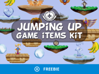 Free Jumping Up 2D Game Items