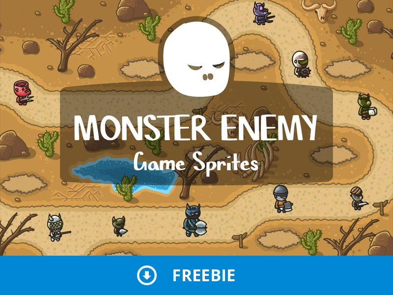 Free Monster Enemy Sprites by 2D Game Assets on Dribbble