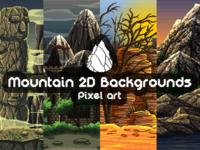 Mountain Pixel Art 2D Backgrounds