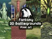 Free Pixel Art Fantasy Game Battlegrounds