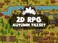 2D RPG Autumn Game Tileset